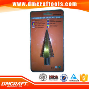 HSS Tin-Coated Step Drill Bit for Metal pictures & photos