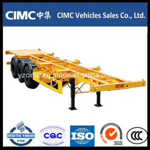 Cimc 20FT/40FT/53FT Tri-Axle Skeleton Container Trailer pictures & photos