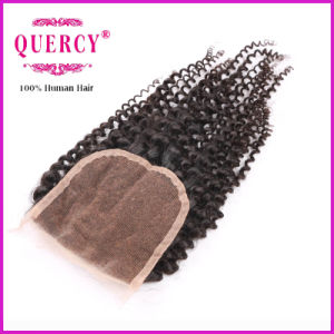 Quercy Hair Factory Wholesale Price Kinky Curly Lace Closure pictures & photos