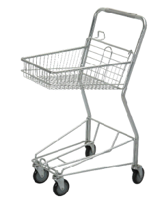 Steel Shopping Trolley Cart Powder Coating Surface PU Wheel pictures & photos