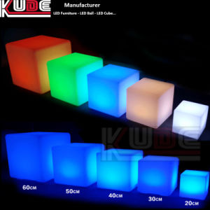 Light up Cube Seat Chair Stool Illuminated LED Cube pictures & photos