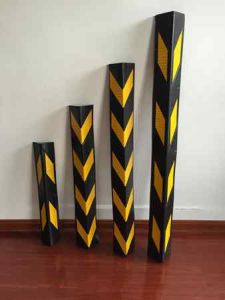 1000mm High Reflective Rubber Corner Guard pictures & photos