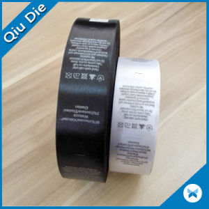 Content Care Label Washing Instruction Printed Label in Roll for Underwear/Bra pictures & photos