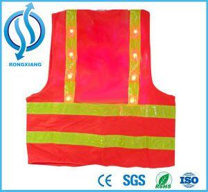 Hi Viz Reflective LED Flashing Safety Adult Orange Vest pictures & photos
