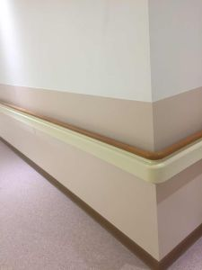 The Cheapest Hospital PVC Handrail with All Brackets pictures & photos