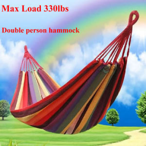Portable Hanging Bed Canvas Fabric Outdoors Camping Canvas Hammock