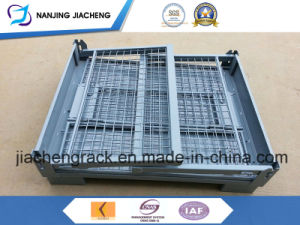 Qualified China Stackable and Foldable Wire Mesh Pallet pictures & photos