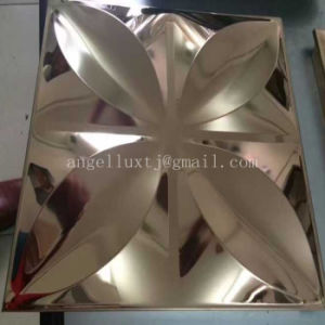 Three Dimensional Decorative Mirror Embossed 4X8 Stainless Steel Sheet pictures & photos