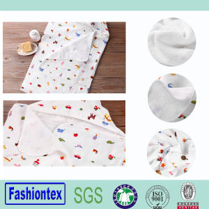 100% Cotton Infant Muslin Printing Poncho Towel Newborn Hooded Towel pictures & photos
