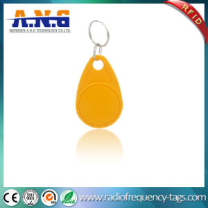 125kHz Yellow Security Digital RFID Key Fob pictures & photos