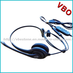 Best Selling Binaural Rj9 Call Center Telephone Headset pictures & photos