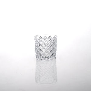 Diamond Pressed Glass Candle Holder pictures & photos