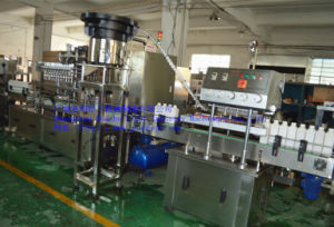 Automatic 4-Nozzle Glass/Floor Cleaner Filling Machine with Capping-Labeling pictures & photos