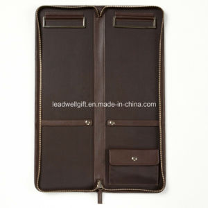 Tie Case - Full Grain Leather - Chocolate Brown pictures & photos