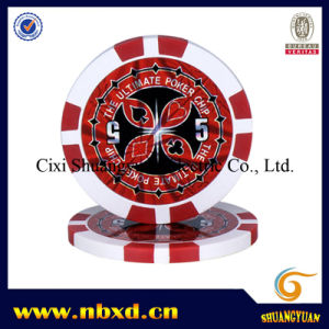 14G 2-Tone 8spots Clay Poker Chip with Custom Sticker (SY-E09) pictures & photos