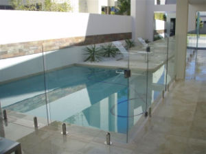 Indoor Staircase Glass Balustrades with Stainless Steel Baluster pictures & photos