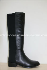 Attractive Fashion Sexy Women Leather Long Snow Boots pictures & photos