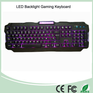 Three Adjustable Backlight Colors USB Wired Gaming Keyboards with LED (KB-1901EL) pictures & photos