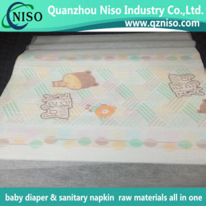 Raw Materials Embossed Baby Diaper Laminated Backsheet pictures & photos