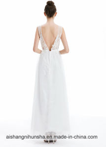 Sexy Backless Formal Bride Elegant Banquet Dresses pictures & photos