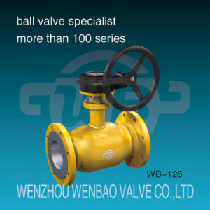 GOST Pn40 All Welded Steel 20 Flanged Floating Ball Valve pictures & photos