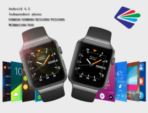"1.54"" 3G Call SIM Card with WiFi High Camera Smart Sport Digital Phone Watch with Android 4.2"