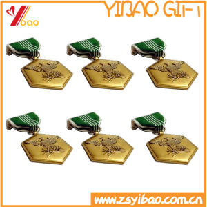 Custom Gold Plated with Double-Sided Printing Logo Souvenir Medals (YB-LY-C-29) pictures & photos