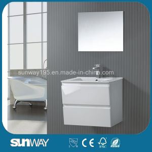 Latest Wall Mounted MDF Bathroom Vanity with Mirror pictures & photos