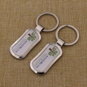 2016 Custom Logo Printing Sticker Epoxy Metal Keychain pictures & photos