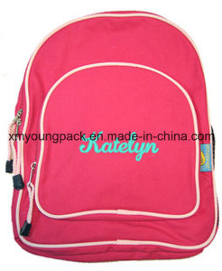 Hot Pink Kids Personalized Backpack Bags for School pictures & photos