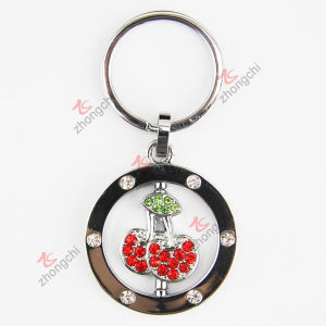 Alloy Crystals Alloy Cherry Key Chain (KR-56)