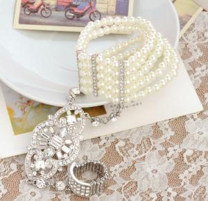 Fashion CZ Rhinestone Gold Plated Zinc Alloy Bangle and Ring Set Bracelet pictures & photos