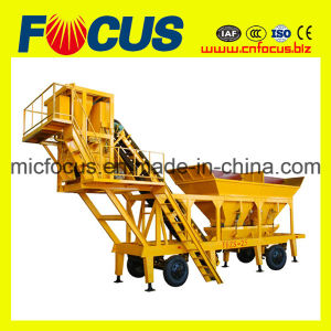 Full Automatic 25m3/H Mobile Concrete Batching Plant Yhzs25 pictures & photos