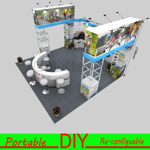 Portable Reusable Versatile Exhibition Booth with Four Open Entrances pictures & photos