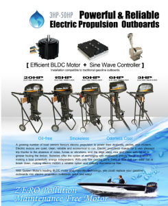 Electric Outboard 10HP. Tiller Control pictures & photos