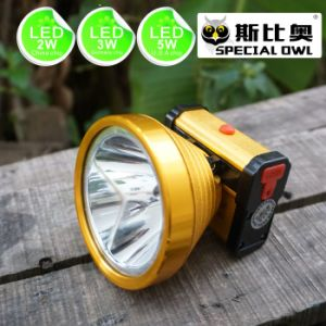 2W 3W 5W LED Headlamp Aluminum alloy shell 1*5V500mAh USB Mobile charging 2PCS Rechargeable Lithium Battery, Camping Outdoor, Coal Miner Lamp Mining Headlamp pictures & photos