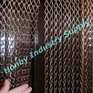 Honby Brown Color Aluminum Chain Link Door Screen Curtain pictures & photos