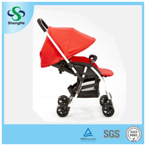 New Design Reversible Aluminum Alloy Baby Stroller with Adjustable Footrest (SH-B11)