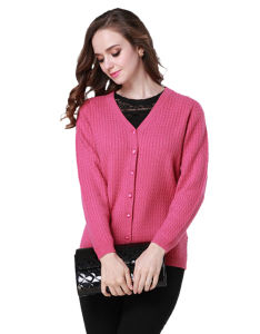 Ladies′ Cardigan Garment/Knitwear/Cashmere Clothing pictures & photos