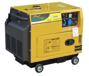 3kw Silent Air-Cooled Diesel Generator with Wheels pictures & photos
