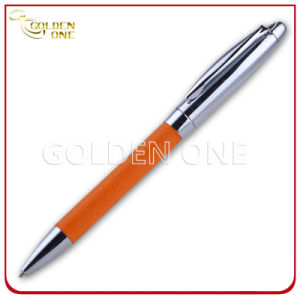 Promotion Gift Click Design Metal Ball Pen with PU Leather pictures & photos