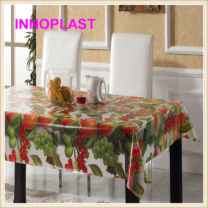 PVC Waterproof Transparent Tablecloth/Wedding Table Cloth in Roll pictures & photos