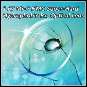 1.67 Mr-7 Hmc Super-Hard Hydrophobic Rx Optical Lens pictures & photos