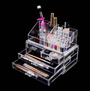 Wholesale Clear Transparent Acrylic Lipstick Skincare Nail Polish Makeup Cosmetic Supermarket Plastic Perfume Display Factory pictures & photos