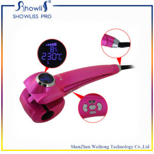 Showliss Digital Automatic Rotating LCD Hair Curler with CE/Rohs/SAA Ceitificate pictures & photos