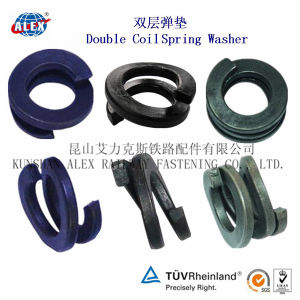 Double Coil Spring Washer for Railway Fastening pictures & photos