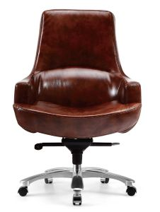 Hot Selling Cow Leather Office Chair Task Chair pictures & photos