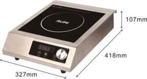 All Metal Housing Knob Control Commerical Induction Cooker. pictures & photos