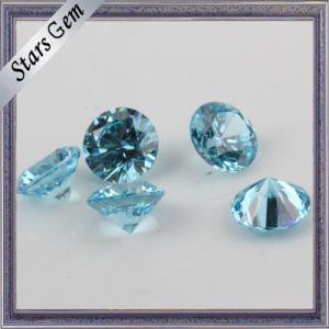 Light Aqua Blue Twinkling Brilliant Cut Cubic Zirconia CZ Gemstone pictures & photos