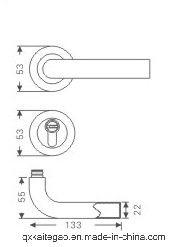 (SC-303) SUS304 Satin Finish Separate Level Handle with Lock pictures & photos